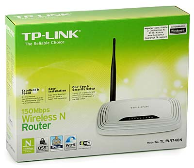 Access Point: TP-Link TL-WR740N (w. router, 4p-switch, 150Mb/s 802.11n)