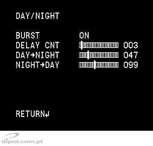 Day/Night settings