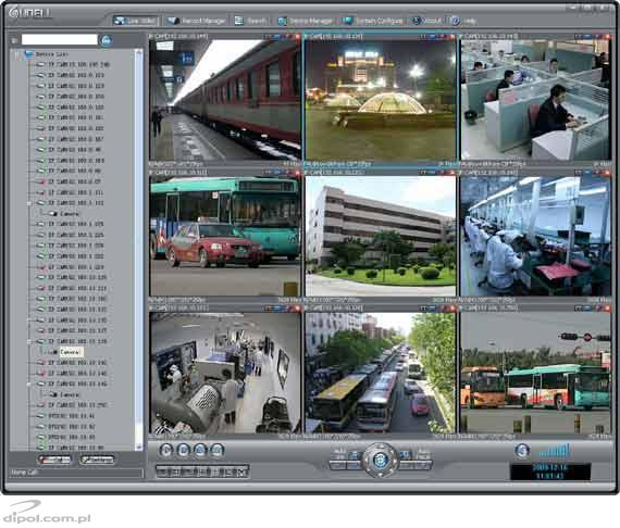 A screenshot from the free software supplied with the camera
