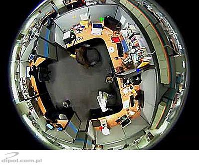 تصویر اولیه دوربین چشم ماهی