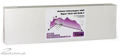 UHF televízió antenna DIPOL 16/21-60 LNA-177 erősítővel