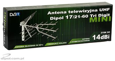 UHF TV antenna Dipol 17/21-60 Tri-Digit MINI