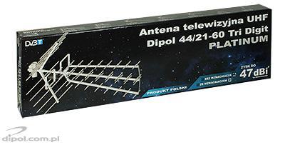 Antena telewizyjna UHF Dipol 44/21-69 Tri Digit