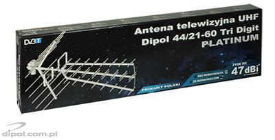UHF televízió antenna DIPOL 44/21-60 Tri Digit LNA-177 erősítővel