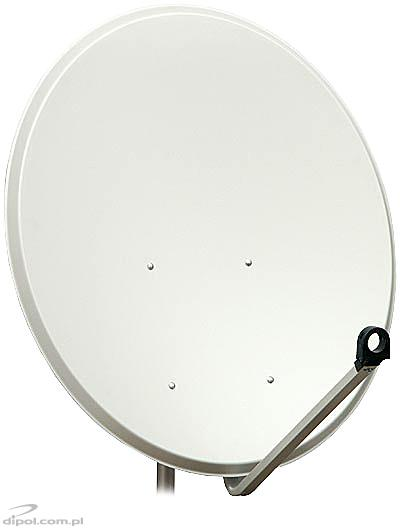 Offset Satellite Dish: 100cm, painted galvanized steel, A-E mount