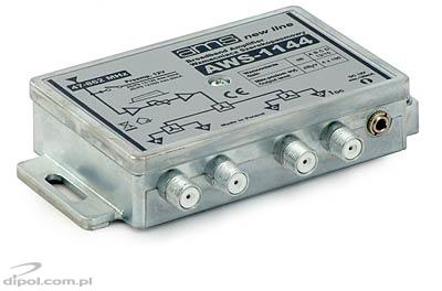 Indoor antenna amplifier AWS-1144 47-862MHz 4-out 13/15dB