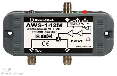 Wzmacniacz antenowy wewnętrzny z zasilaczem AWS-130S