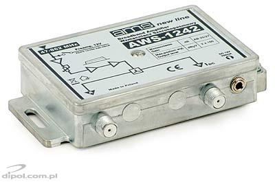 Indoor Antenna Amplifier AWS-1242 (47-862MHz 1-in, 2-out, 25/27dB)