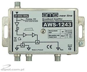 Indoor Antenna Amplifier: AWS-1243 (47-862MHz; 1-in, 3-out; 24/26 dB)