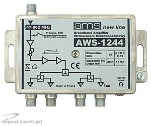 Indoor Antenna Amplifier AWS-1244 (47-862MHz 1-in, 4-out, 21/23dB)
