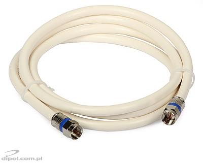 F-plug to F-plug Cable (PCT compression connectors, 1.5m)