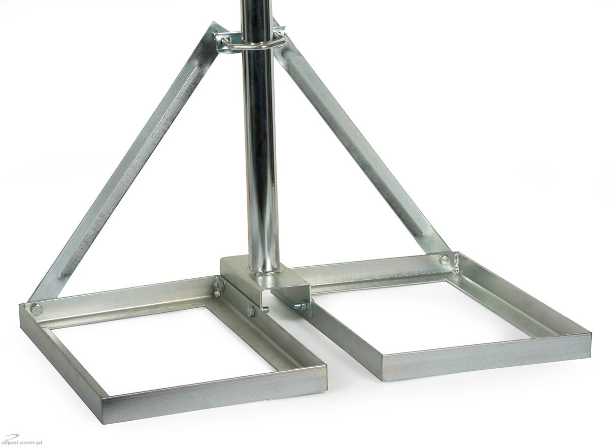 Antenna Mast Mb 1000 1m For Solid Flat Roofs Straight