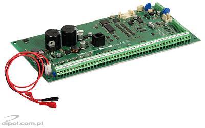 View of the Satel Integra 128 Plus control panel (main board)