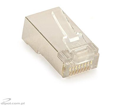 RJ45 8 Position Shielded Modular Plug for Solid Wire