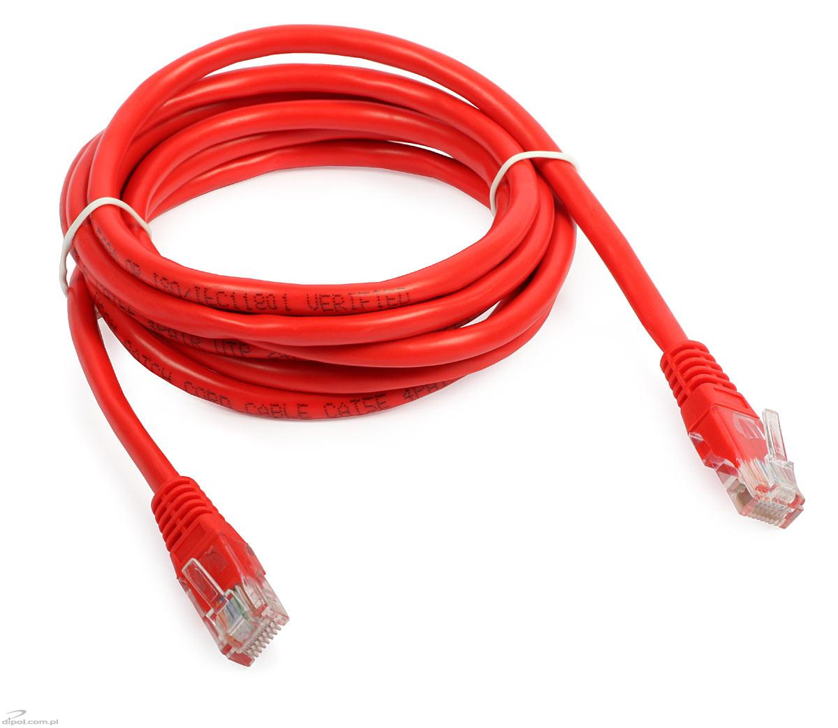 UTP Patch Cable Cat5e (2m, red) - LAN Accessories - LAN & WLAN