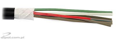 Multi-tube ULTIMODE OMT-108SM-A L79108 cable - one tube with 8 SM fibers and 5 filler tubes