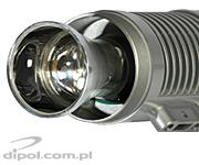 View of the lens assembly in the IR100 M1647 illuminator