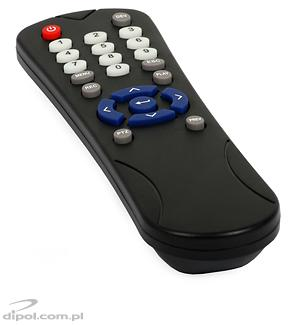 View of the included remote control