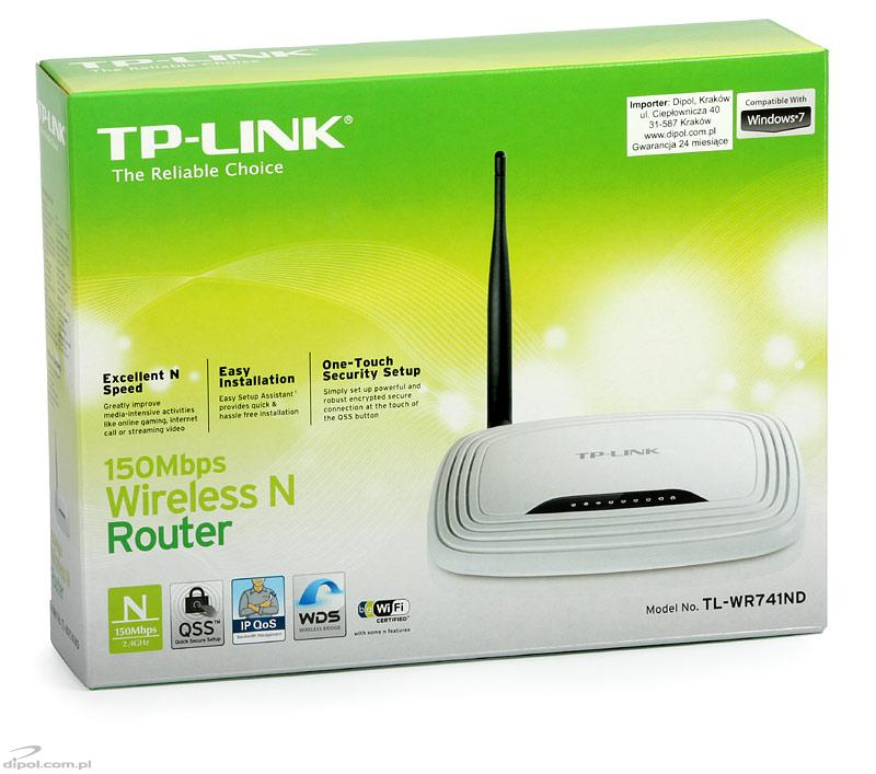 Access Point: TP-Link TL-WR741ND (w. router, 4p-switch