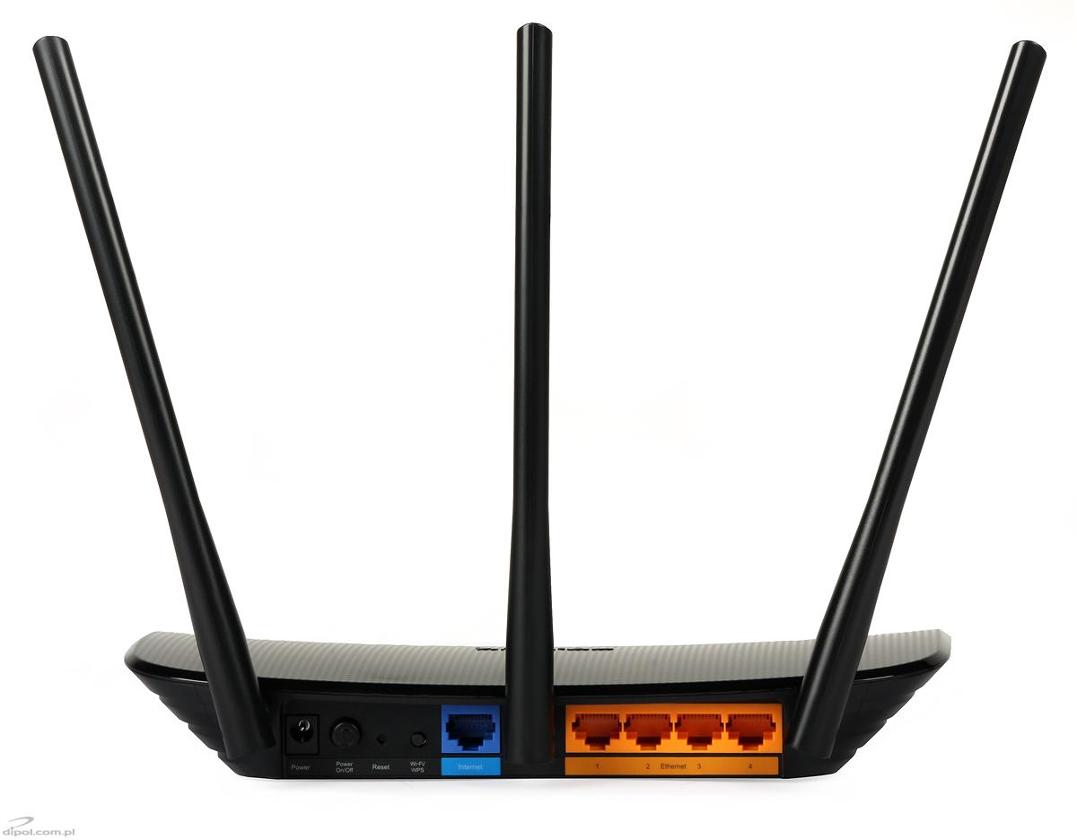 Wireless N Router Tp Link Tl Wr940n 80211n 450mbps 3t3r Mimo View Of The Connectors
