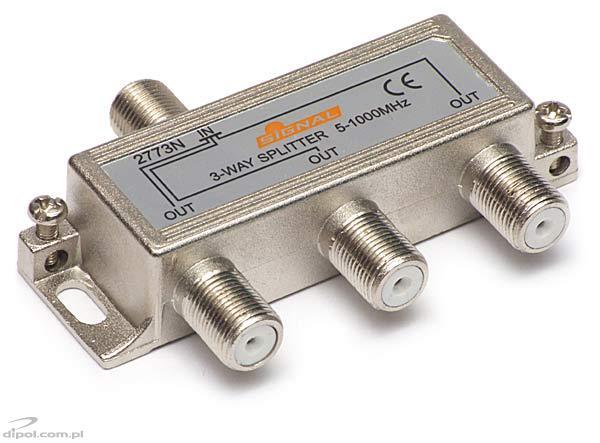3 Way Tv Fm Splitter R 3 Signal