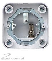 Individual satellite TV outlet GIS-F1-1/N Satel (surface type, single)