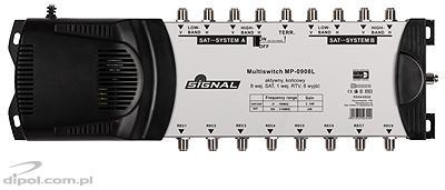 Multiswitch 5/4 Signal MP-0504 (5be, 4ki) aktív földi útvonal