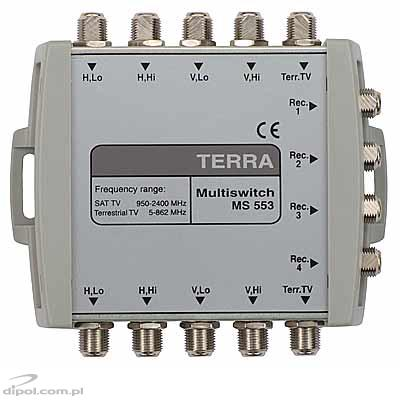 Cascadable Multiswitch: Terra MS-553 (5-input, 4-output)