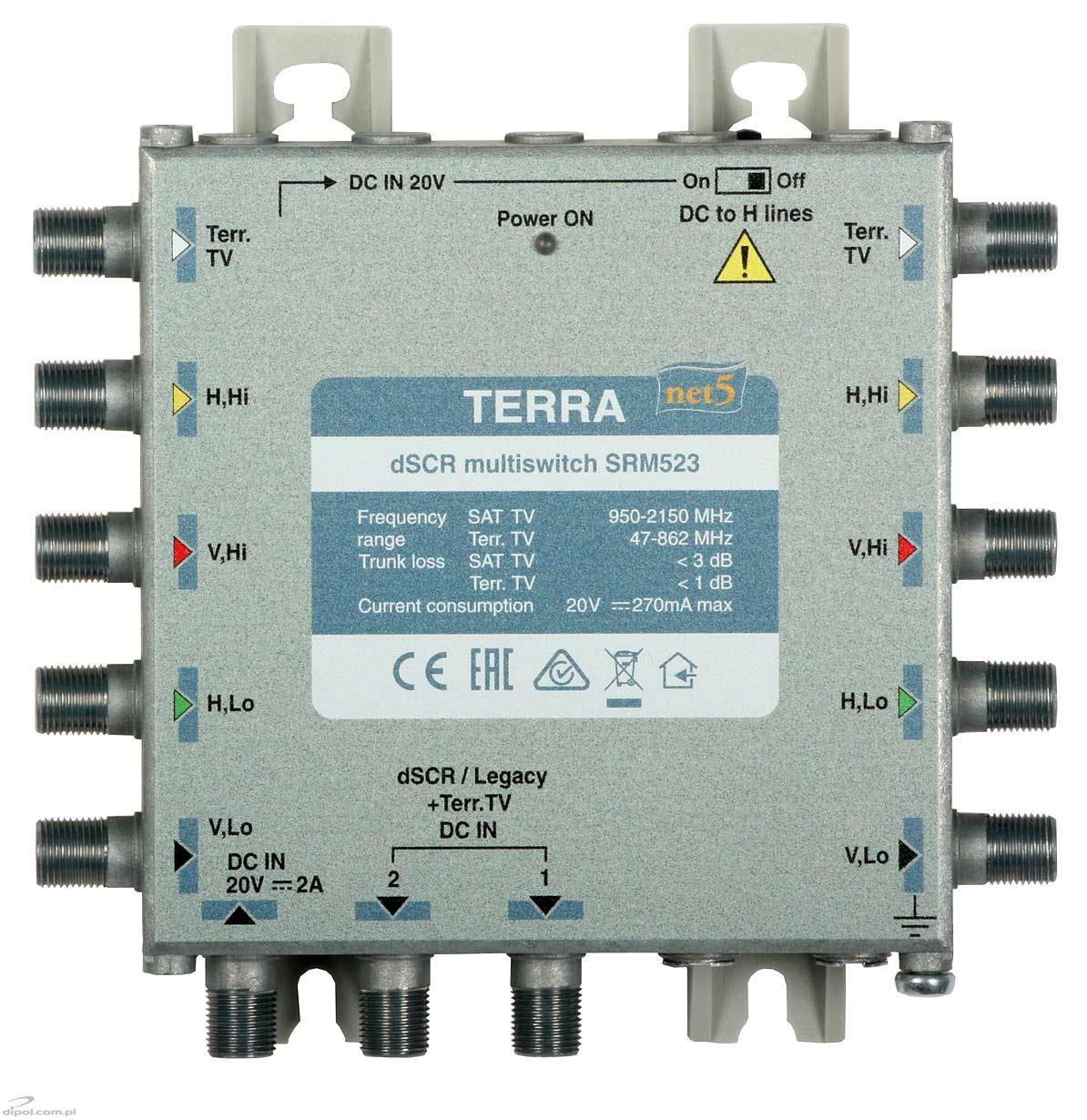 Single-cable Cascadable dSCR Multiswitch: Terra SRM-523 (class A ...