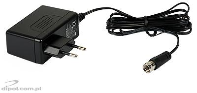 View of the included AC/DC adapter