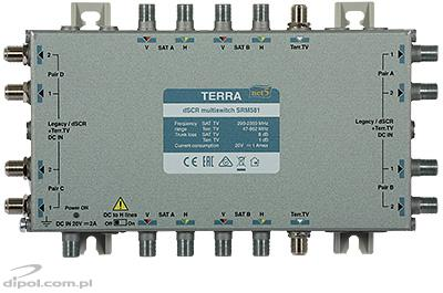Top view of the Terra SRM-581 multiswitch