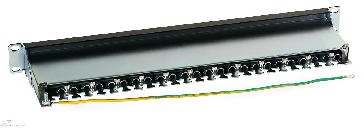 Patch Panel 1u 24 Ftp Cat6 Ports Cable Holders Rack